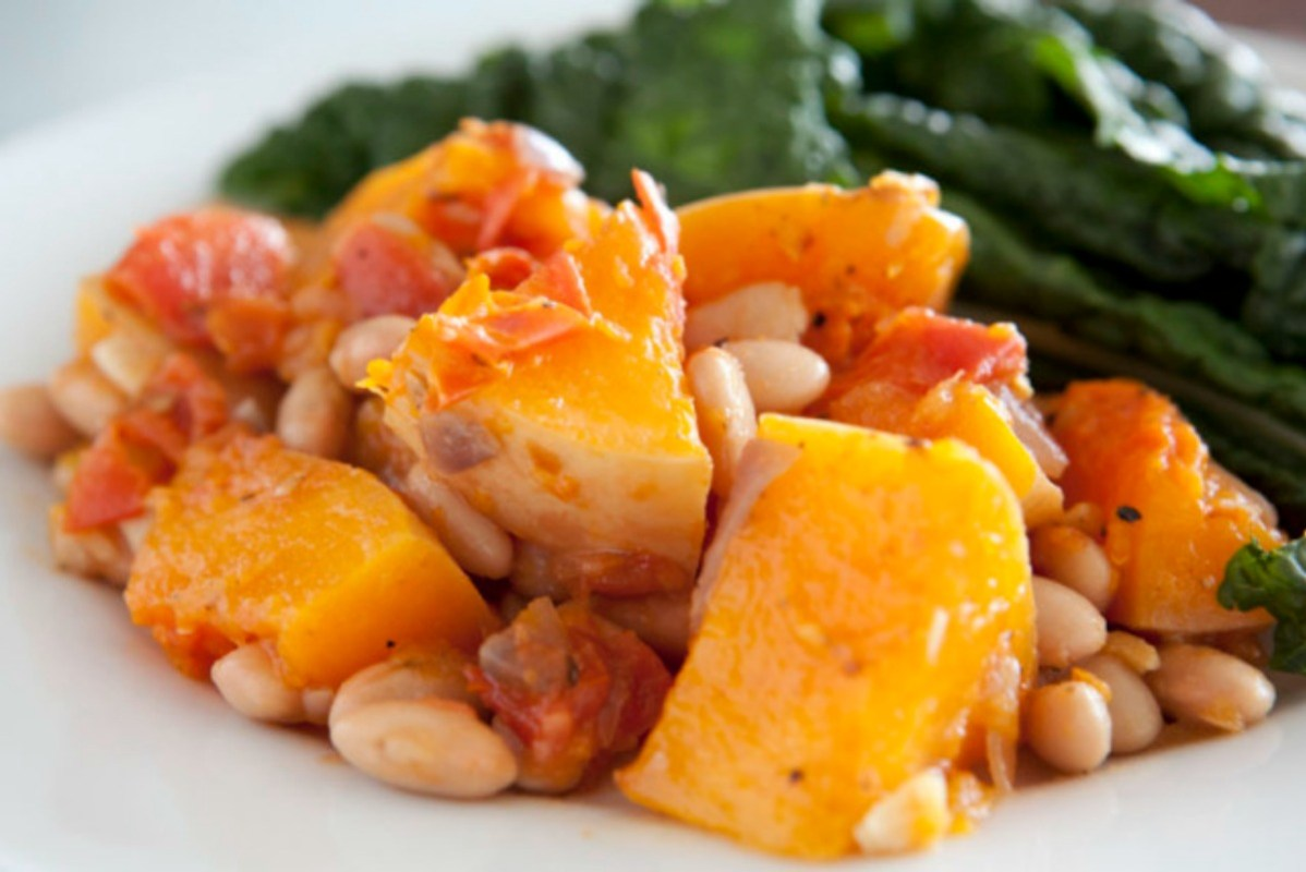 Savory Butternut Squash and Tomatoes [Vegan, Gluten-Free]