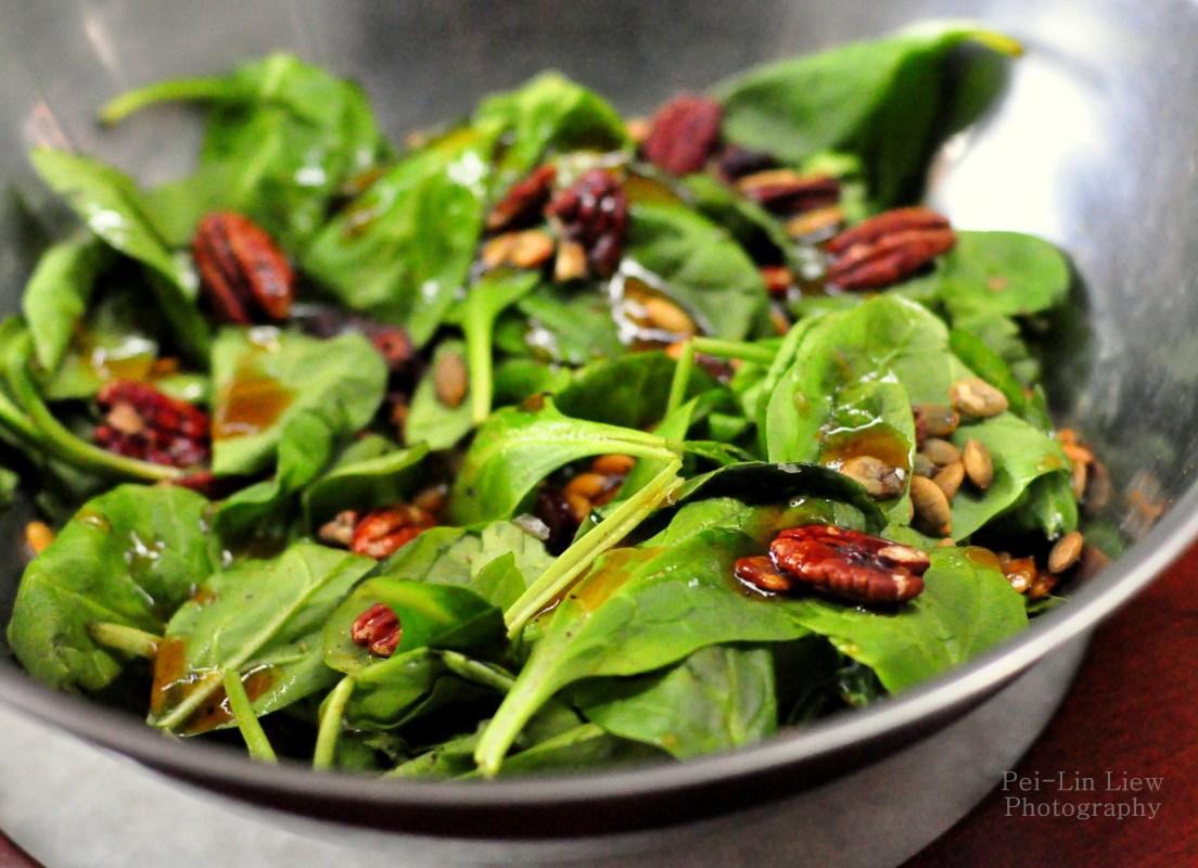 pumpkin seed and pecan salad
