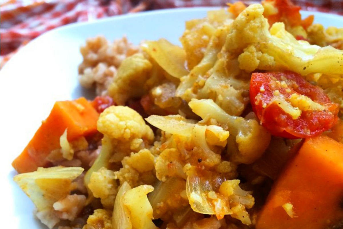 Crockpot Ginger and Cauliflower Curry [Vegan, Gluten-Free]
