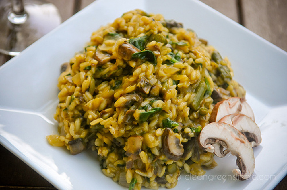 Asparagus-and-Mushroom-Risotto