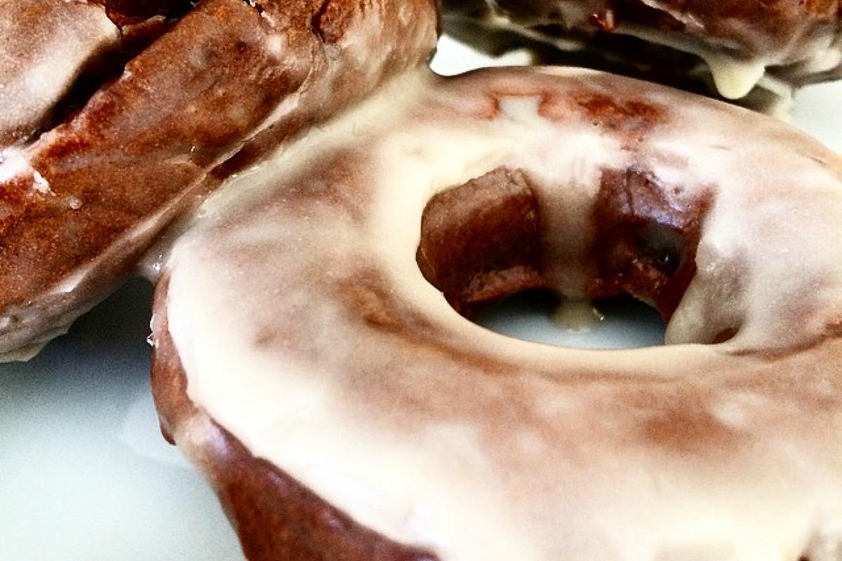 glazed cacao doughnuts