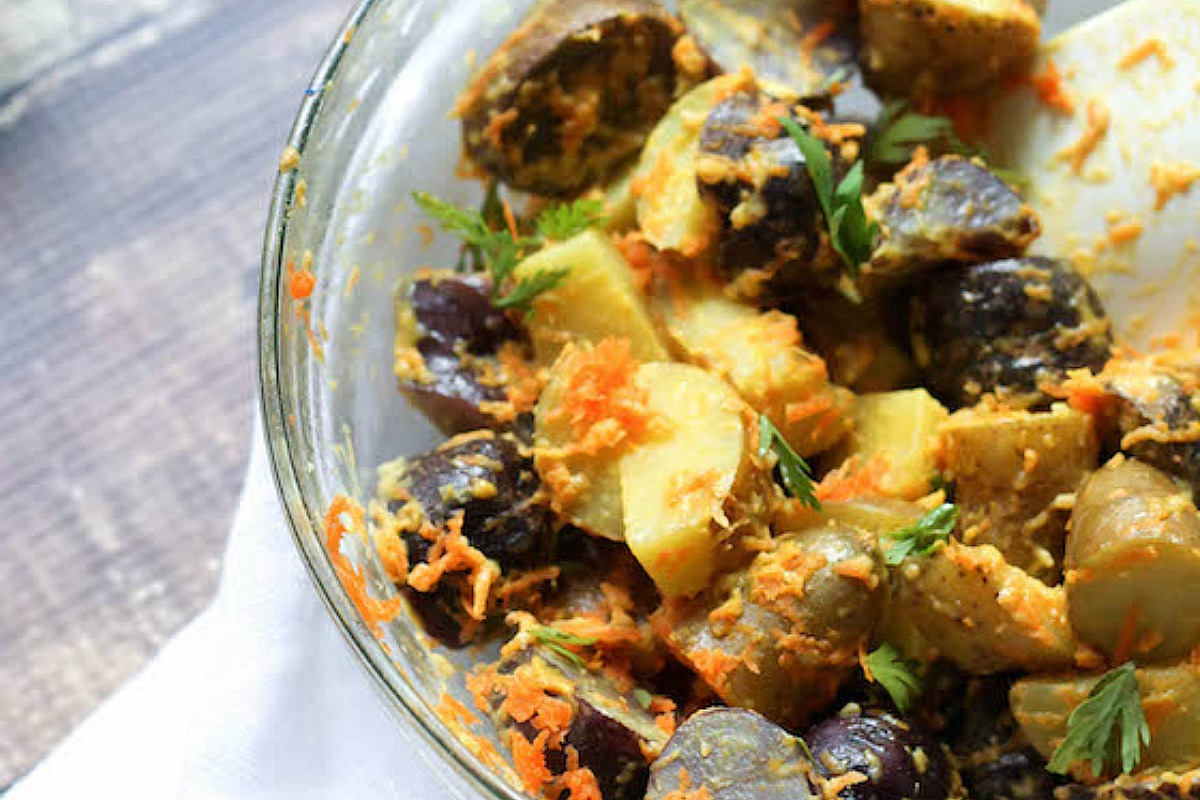 Dijon Fingerling Potato Salad [Vegan, Gluten-Free]