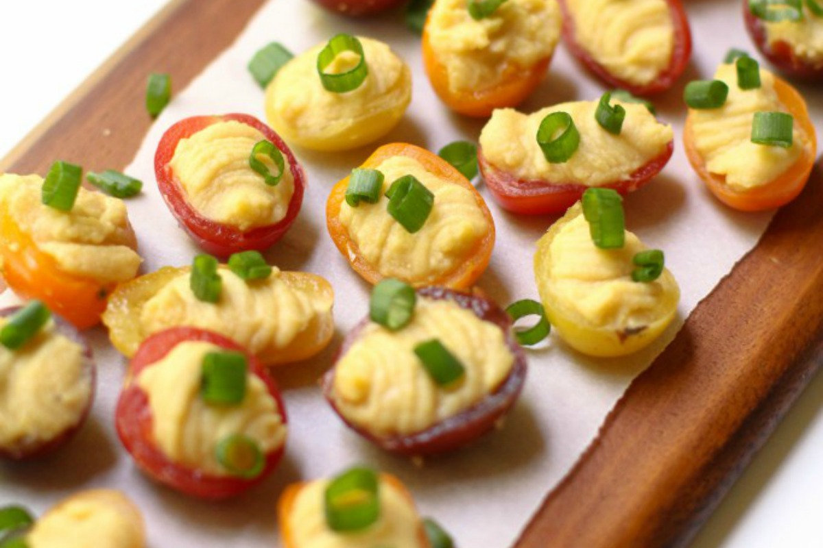 Cherry Tomato Bites [Vegan, Gluten-Free]