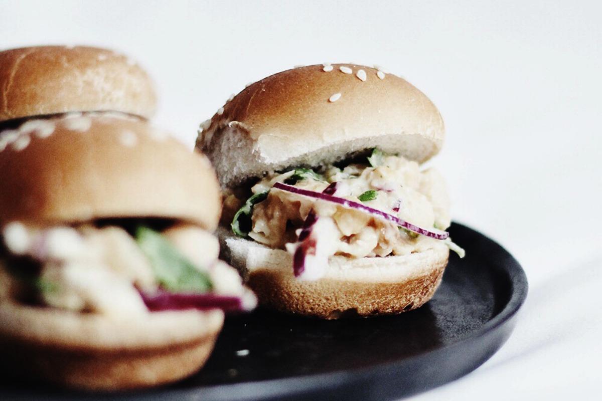 Chickpea Salad Sliders [Vegan]