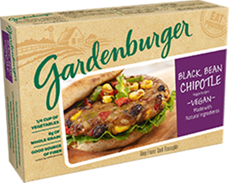 Gardenburger Has Been Making Wholesome Veggie Burgers For Over 25 Years.  Two Of Their Burgers Are Vegan Friendly: Black Bean Chipotle And Veggie  Medley.