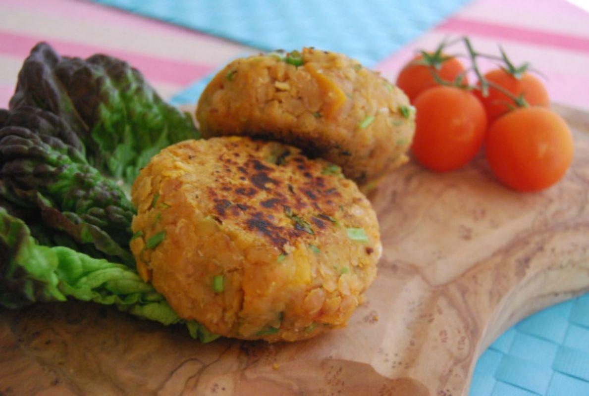 Red Lentil and Butternut Squash Burgers [Vegan, Gluten-Free]