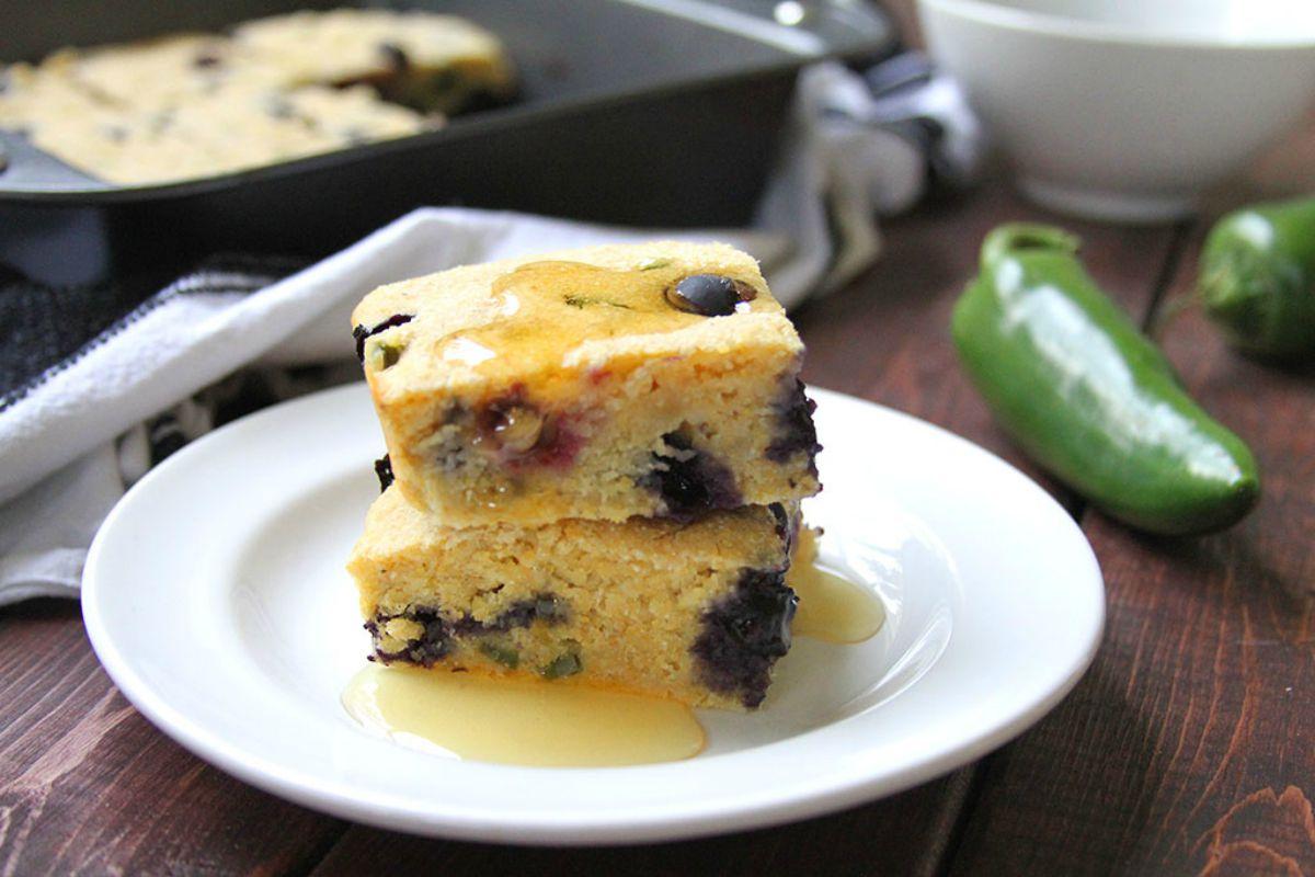 Jalapeno and Blueberry Cornbread [Vegan]