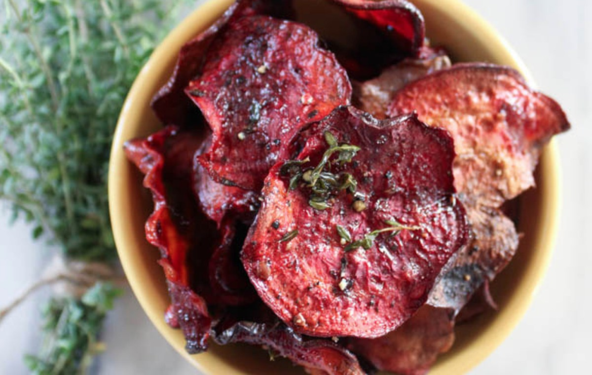 Oregano Olive Oil Beet Chips [Vegan, Gluten-Free]