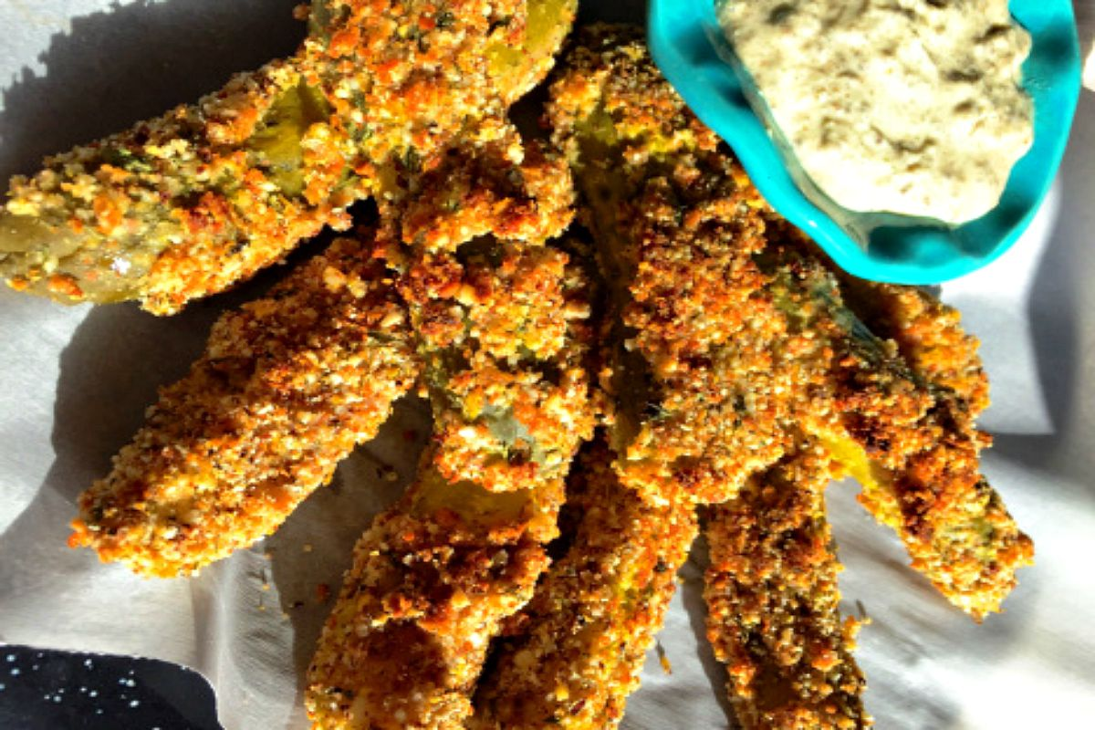 Oven-Fried Pickles [Vegan]