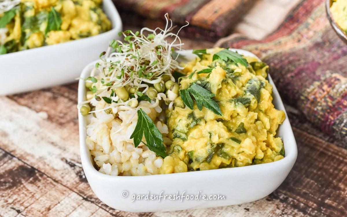 Indian Cauliflower and Lentil Stew [Vegan, Gluten-Free]