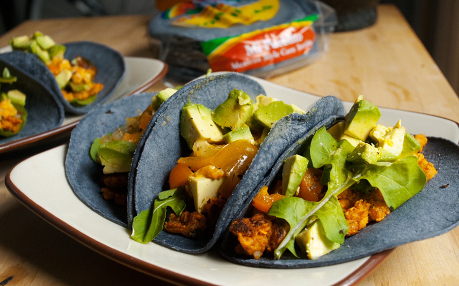 Scrambled Chickpea Tacos With Ginger Miso Sauce [Vegan, Gluten-Free]