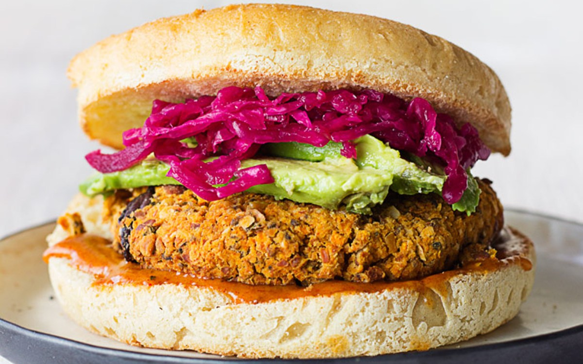 Almond Carrot and Chickpea Burger