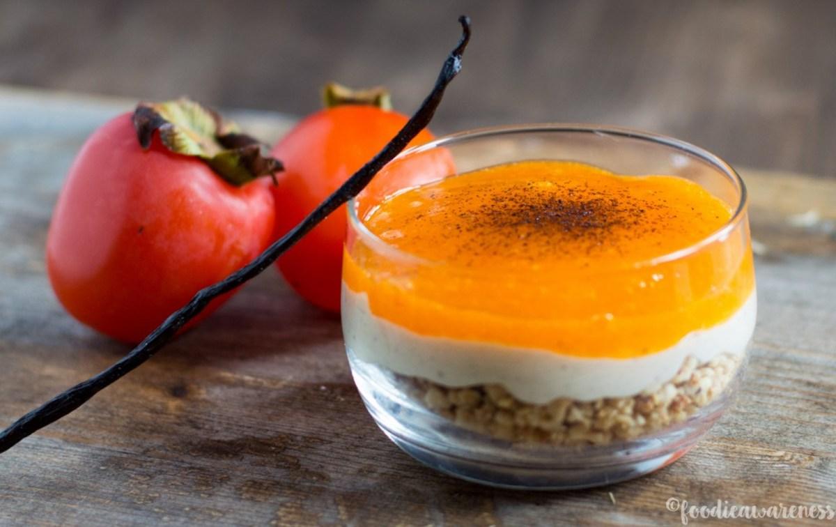 Persimmon Parfait With Hazelnut Crunch [Vegan, Raw, Gluten-Free]