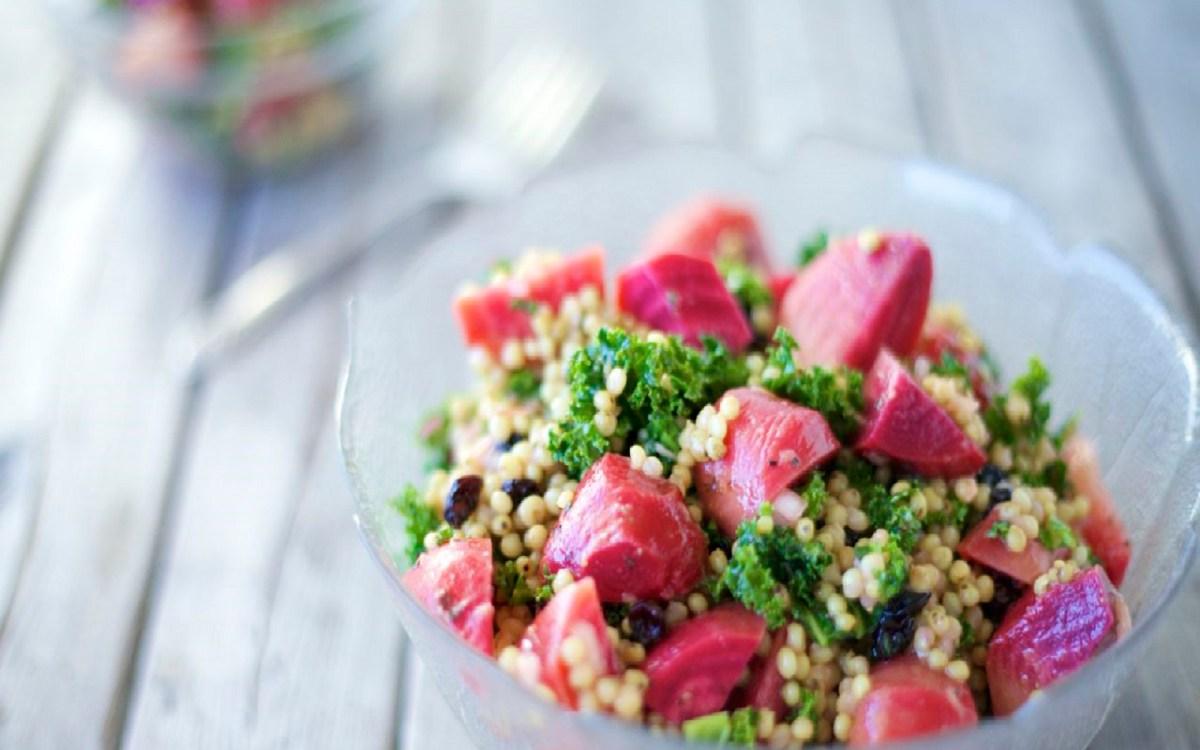 Roasted Beet Sorghum Salad With Ginger Vinaigrette