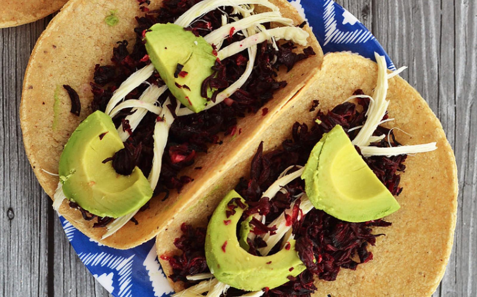 Hibiscus Tacos de Jamaica [Vegan, Gluten-Free]