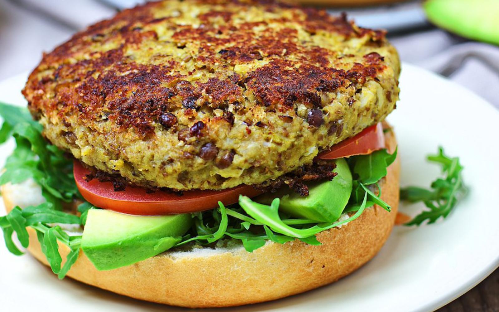 Cauliflower Veggie Burger