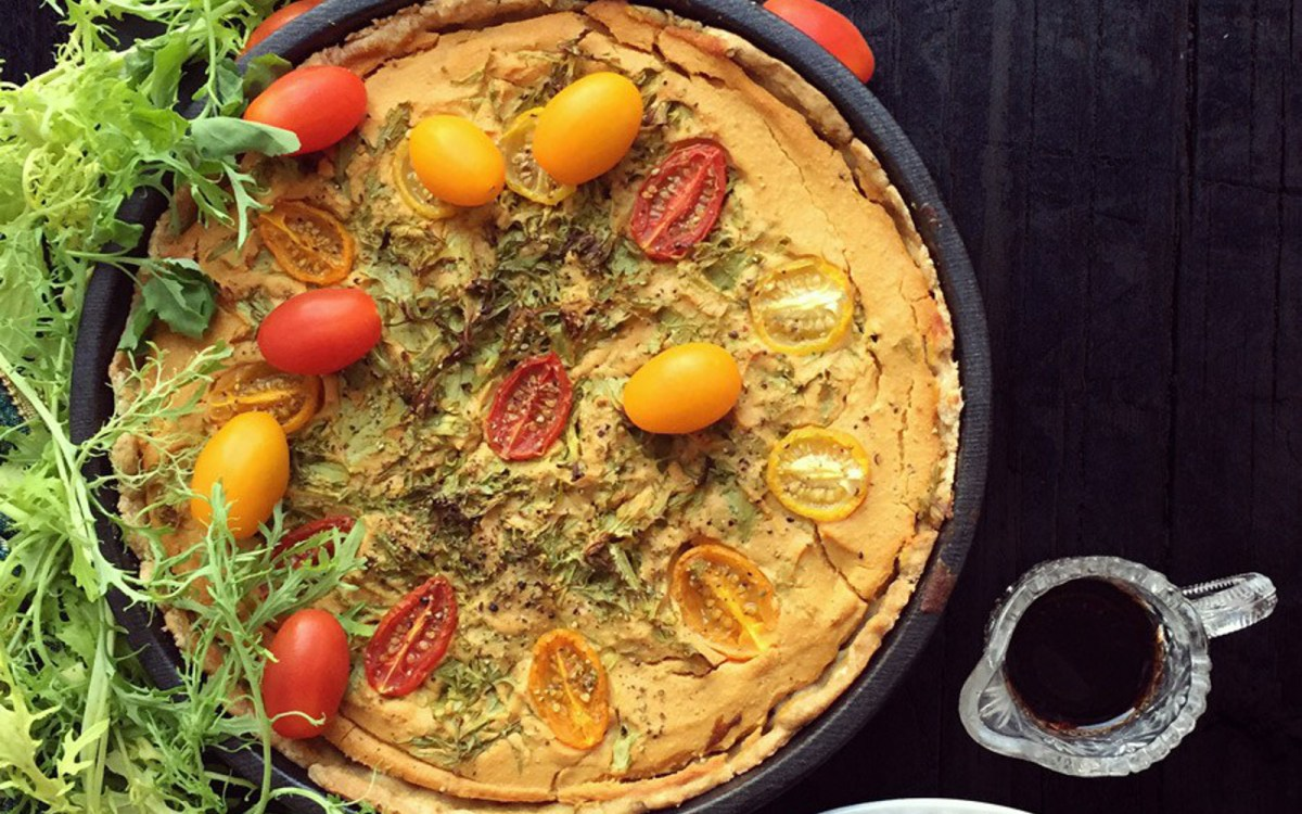 Savory Pumpkin Quiche With an Earl Grey Tea-Infused Crust