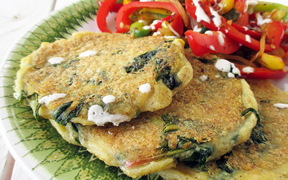 Crispy Spinach and Potato Fritters