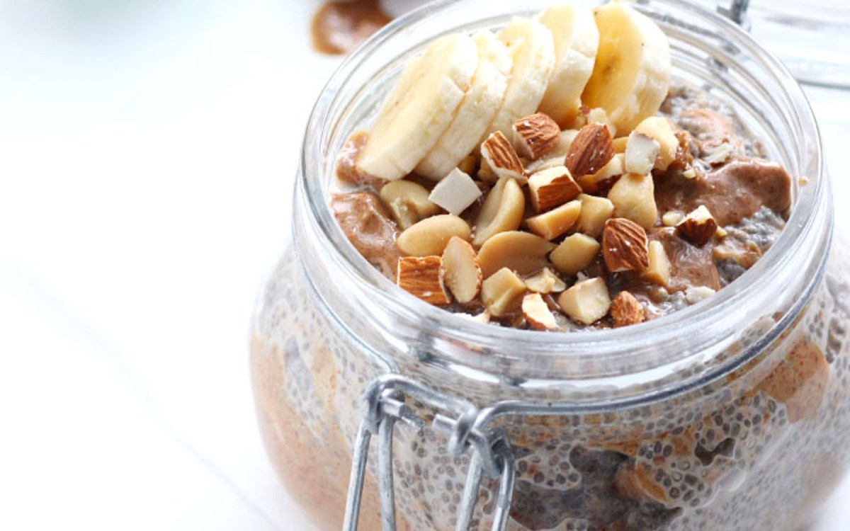Dreamy Almond Butter and Banana Chia Pudding