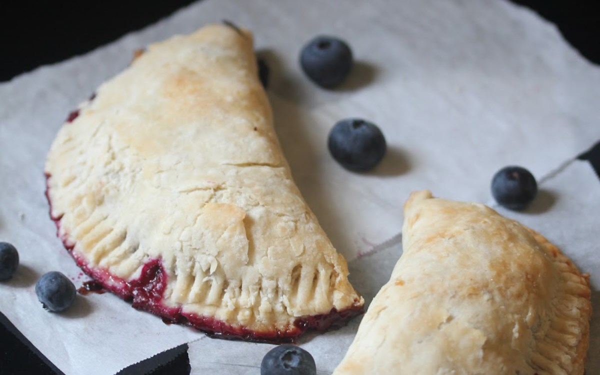 Blueberry Hand Pies With a Flaky Crust