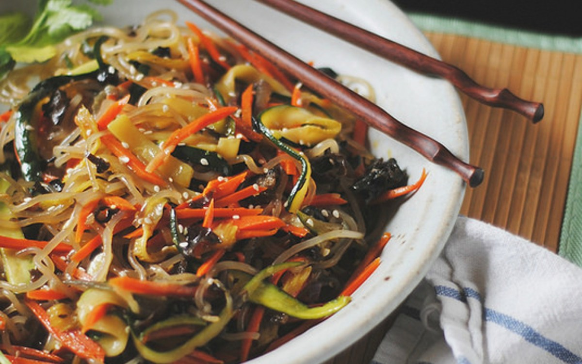 Japchae: Korean Sweet Potato Noodles