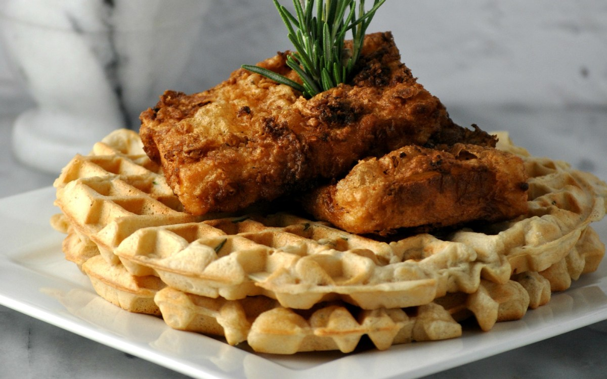 Fried Chicken and Waffles 1