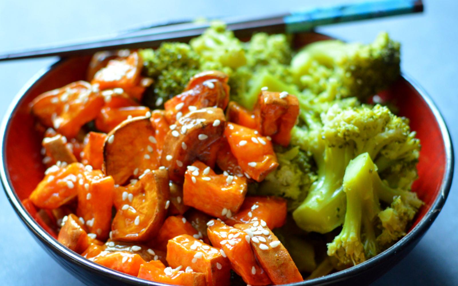 sesame orange sweet potato