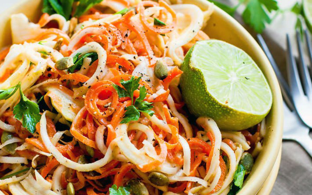 Carrot and Celeriac Noodle Salad 2