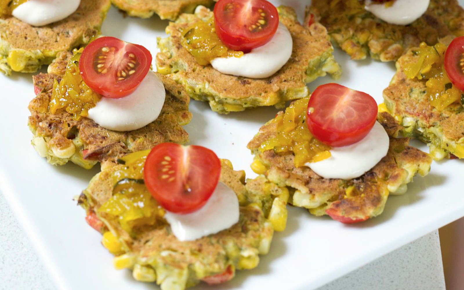 corn and bell pepper fritters