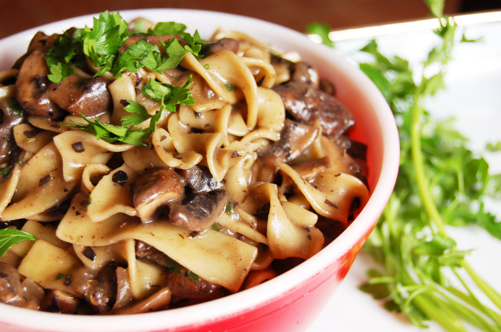 Mushroom stroganoff vegan one green planetone green planet food monster recipes forumfinder Image collections