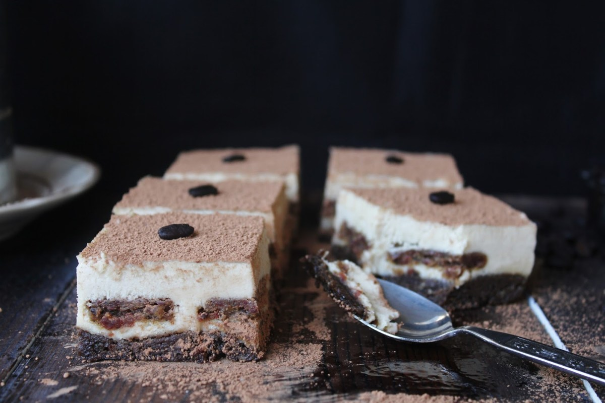 Decadent Raw Tiramisu With Coffee Ladyfingers vegan