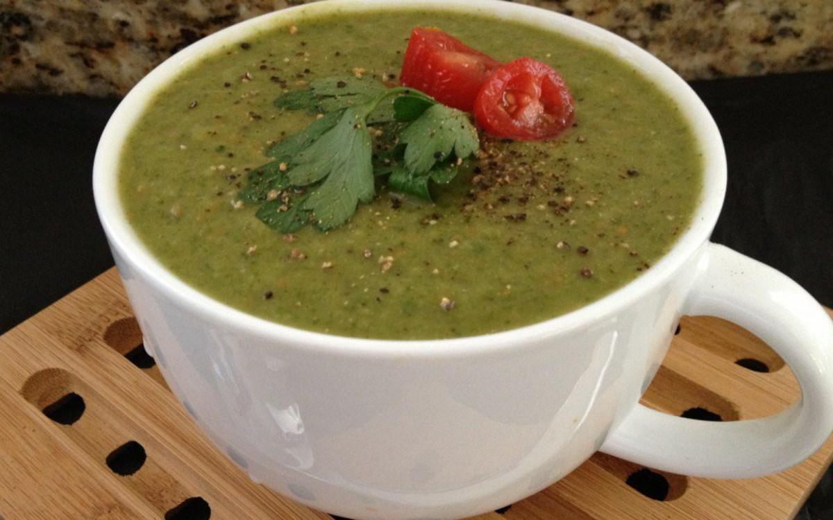 vegan ayurverdic spinach mung bean soup