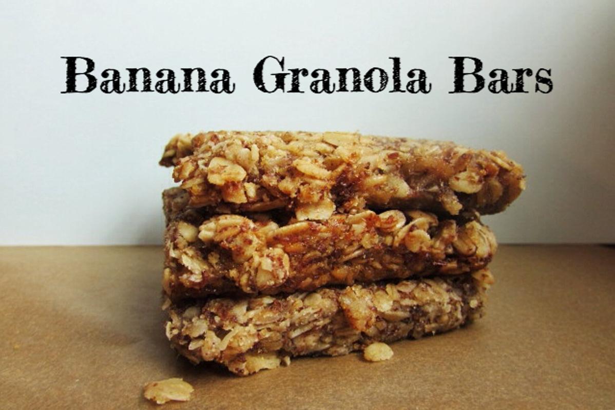 Banana granola bars vegan one green planetone green planet for Bar food vegetarian