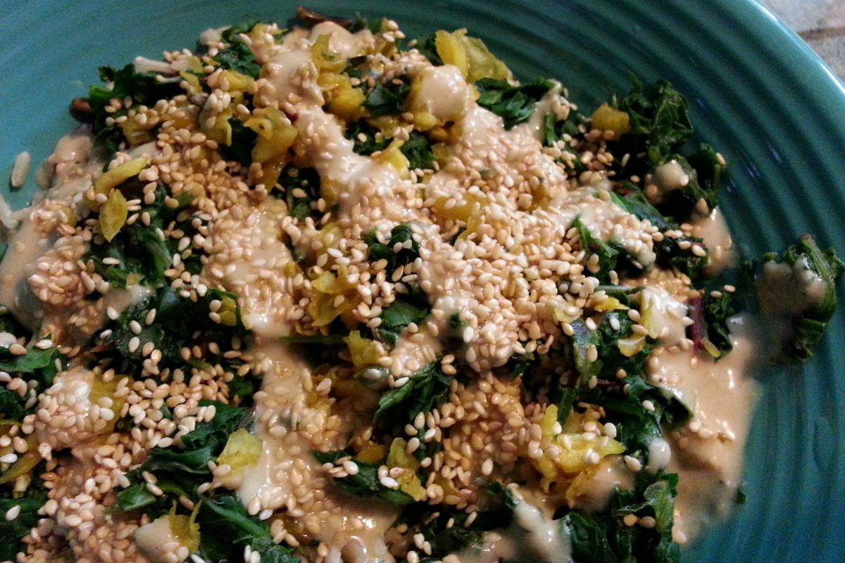 Miso Sesame Kale Bowl-ed Over [Vegan, Gluten-Free]