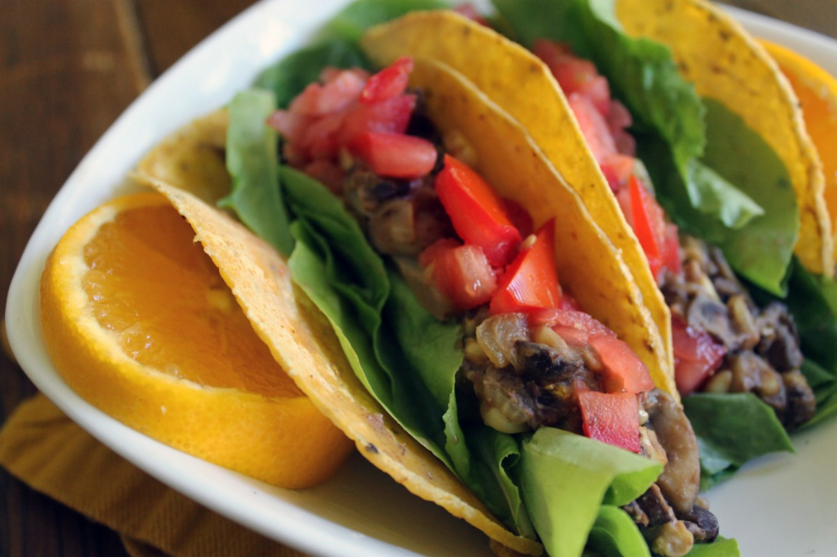Black Bean and Orange Breakfast Tacos