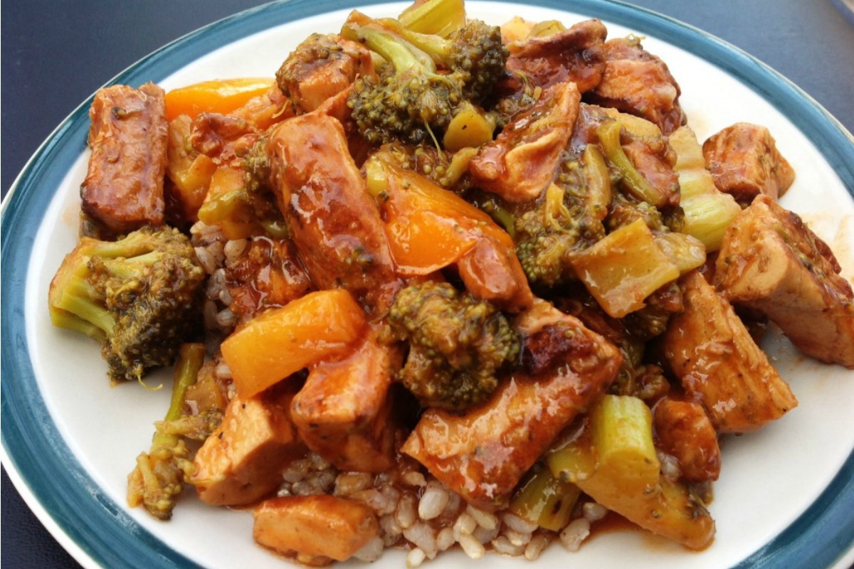 "Vegan Sweet and Sour ""Chicken"""