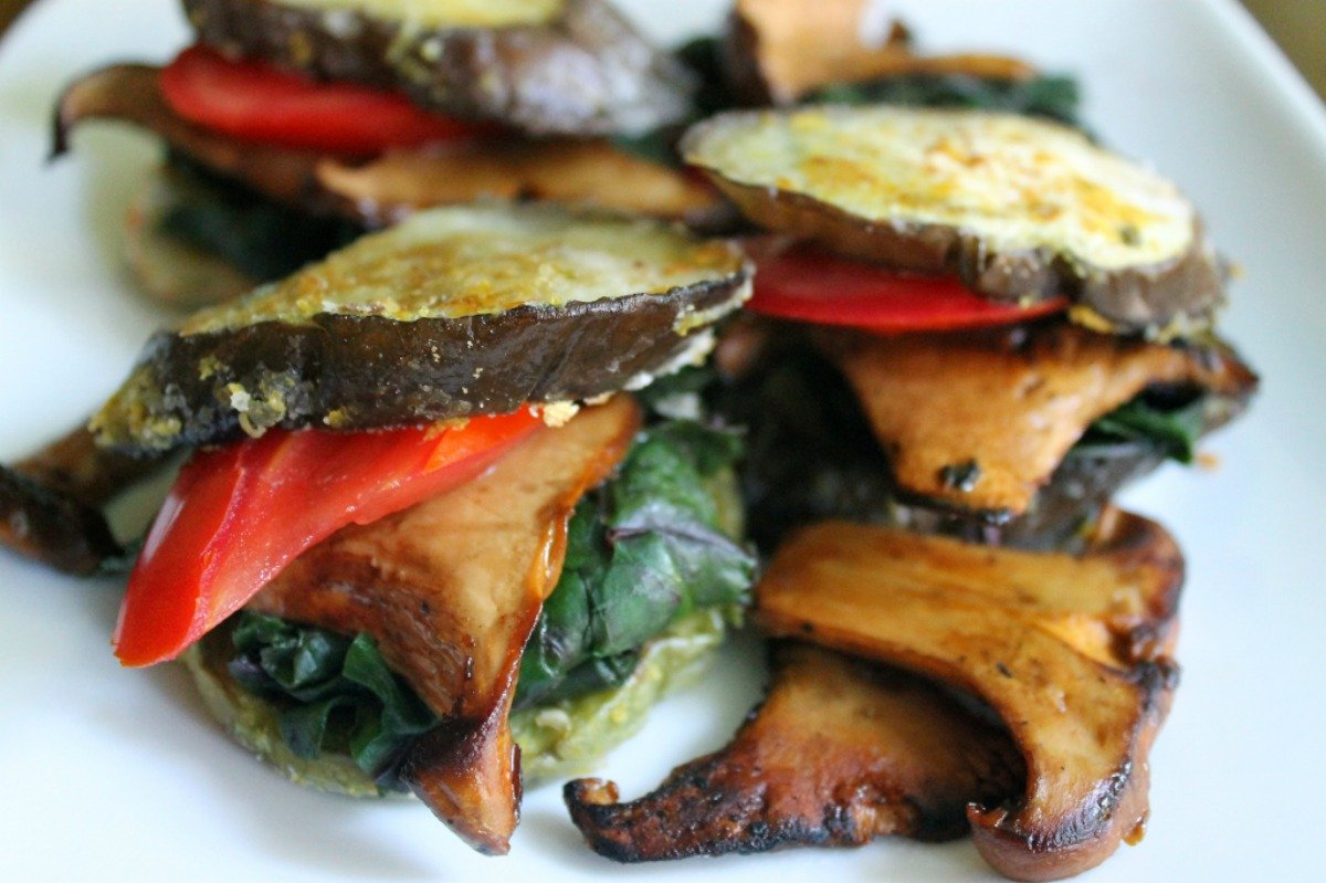 Rainbow Eggplant Stacks [Vegan, Gluten-Free]