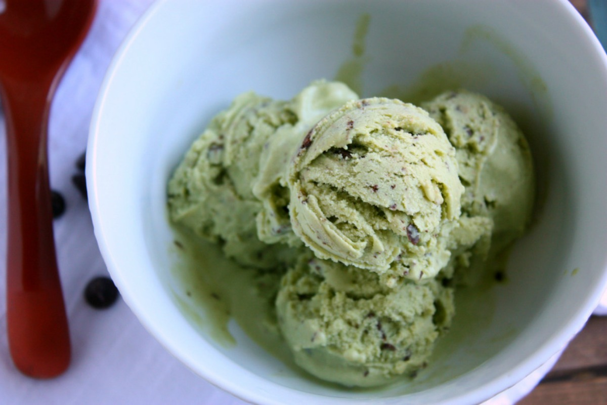 Mint Matcha Chip Ice Cream