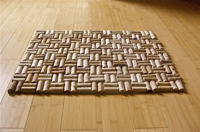Half a dozen reasons why you should collect wine corks for Wine cork welcome mat