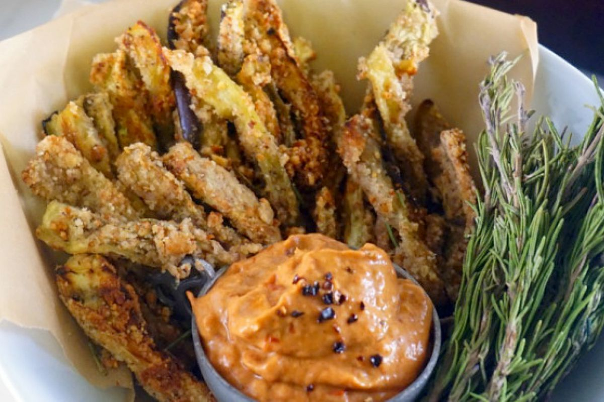 Eggplant Fries With Chipotle Aioli [Vegan] - One Green ...