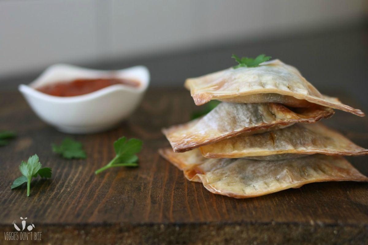 vegan lasagna- Crispy Lasagna Pockets [Vegan]