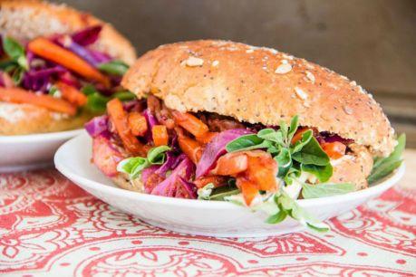 BBQ Pulled Veggie Sandwiches [Vegan]