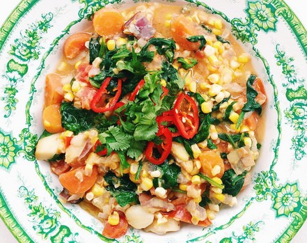 Fresh Summer Corn Chowder [Vegan, Gluten-Free]