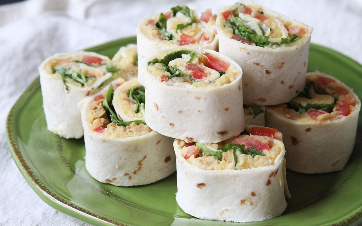 Cheesy Hummus Tempeh Pinwheels [Vegan, Gluten-Free] - One ...