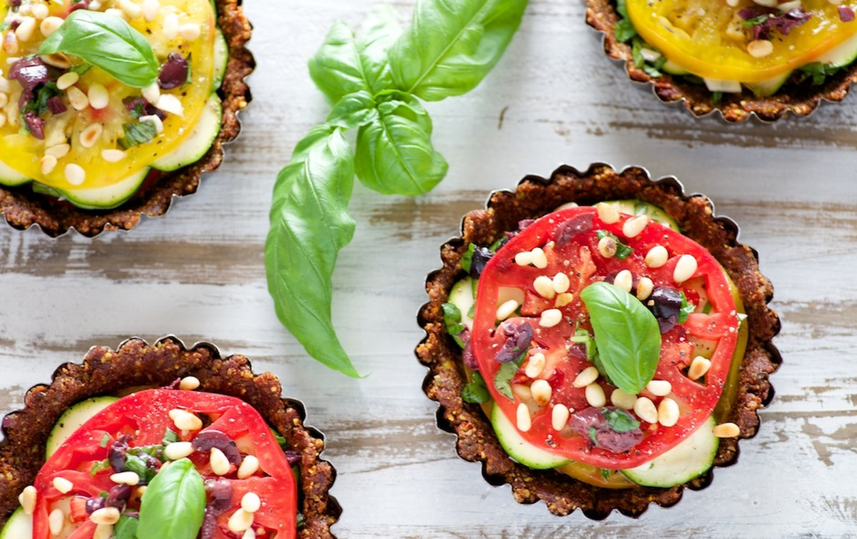 Sun-Dried Tomato and Zucchini Tarts