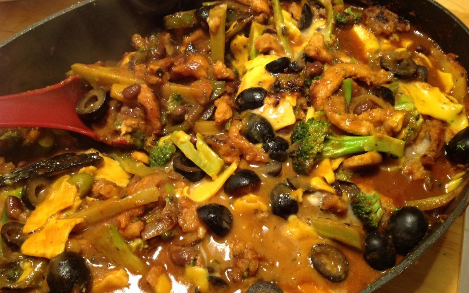 Skillet Cheesy Enchilada Stew [Vegan, Gluten-Free]