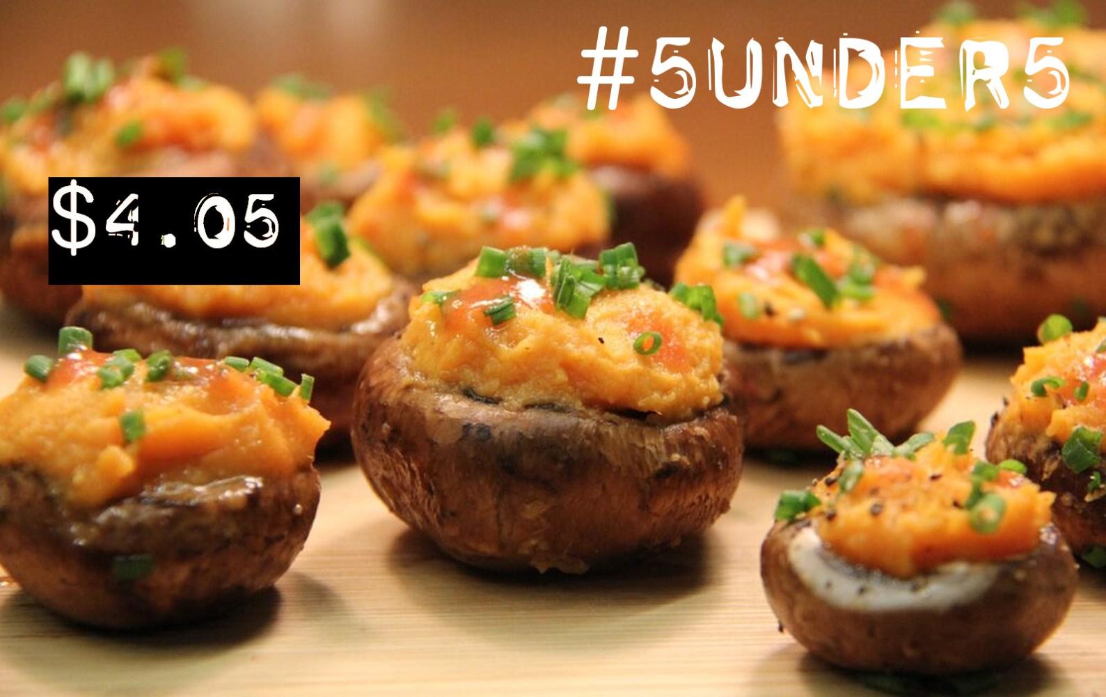 5under5: Buffalo Sweet Potato Stuffed Mushrooms [Vegan, Gluten-Free ...
