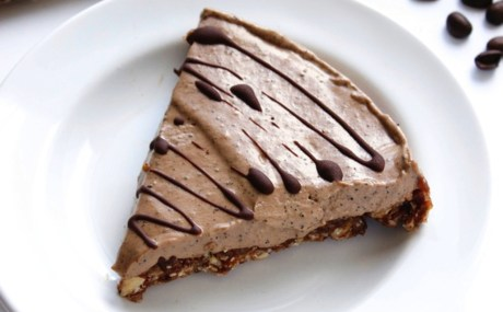 Creamy Raw Chocolate Espresso Pie [Vegan, Gluten-Free]