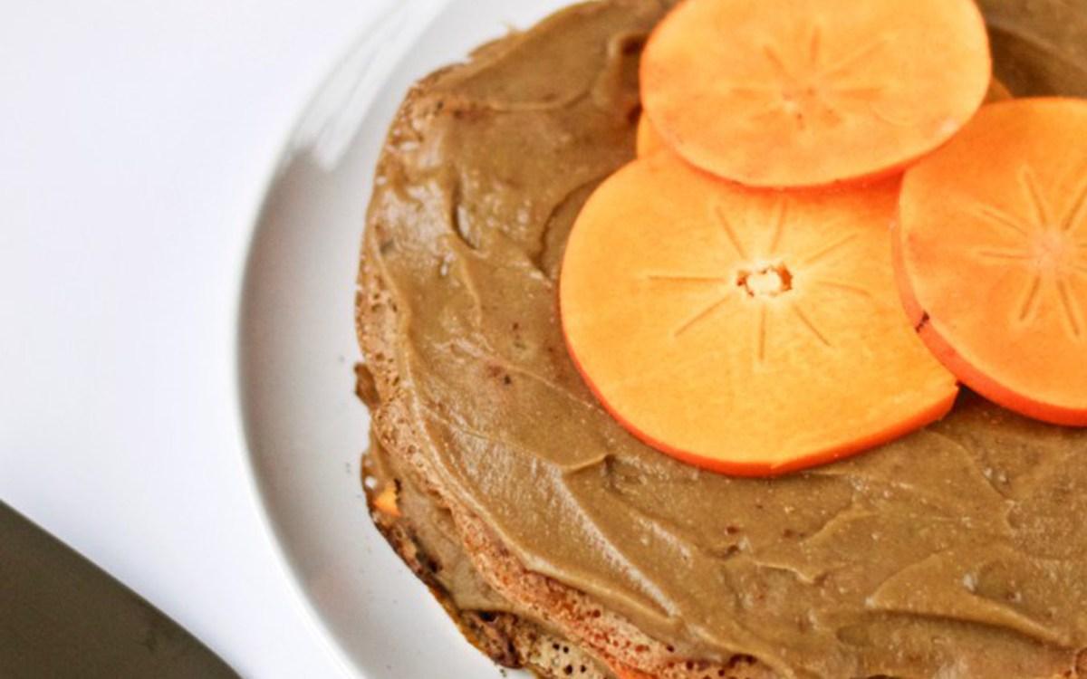 Chestnut Persimmon Crepe Cake