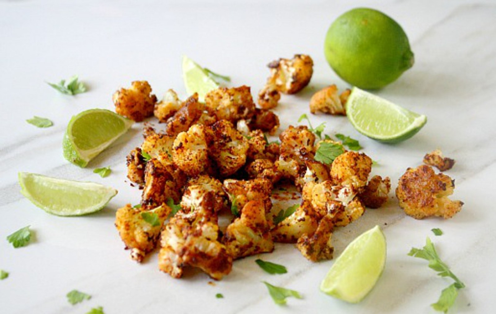 Simple Roasted Cauliflower With Chipotle and Lime